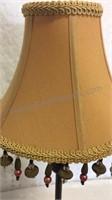 "Decorative Table Lamp w/Beaded Lamp Shade 24"""