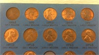 Lincoln Memorial Cent Collection 1959 + -
