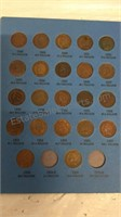 Indian Head Cent Collection 1857-1909 - Partially