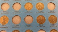 Lincoln Cent Collection 1909-1940 - Partially