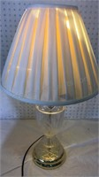 """Crystal Table Lamp 27"""" - some cracking inside"""
