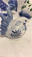 Dansk Rooster Covered Jar and Assorted Ceramic