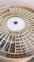 "Mid Century Stiffel Table Lamp 49"" - works"