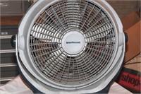Wind machine fan, servss heater