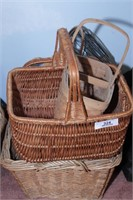 Baskets (1 hamper size & other smaller baskets)