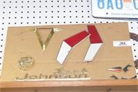 Johnson boat motor badging & Evinrude sign
