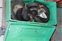 """caster wheels 7pcs 3-6"""" plastic & rubber."""
