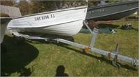 13-1/2' Starcraft Aluminum Rowboat w/ Trailer
