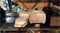 kitchen appliances - waffles, deep fryer