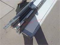 9' x 7' insullated white garage door w/ hardware