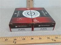 100 rds 45 auto Federal ammo ammunition