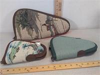 3 handgun cases