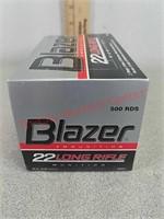 500 rounds Blazer 22 long rifle ammo ammunition