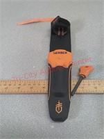 Gerber survival knife, by Bear Grylls