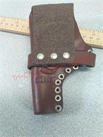 3- leather pistol holsters