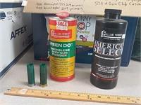 Shotshell wads, powder, primers, cases
