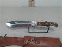 Handmade Puma White Hunter knife with sheath