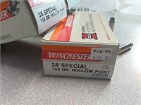 250 rounds Winchester 38 Special jhp ammo