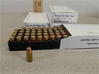 200 rounds factory reload 40 s&w ammo ammunition