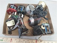 9 fishing reels - Johnson, Shakespeare