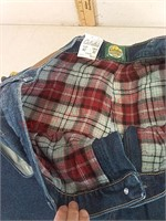 New men's Cabela's flannel lined jeans 40 x 32