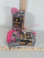 4 New pair Browning wool women's socks