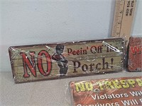 3 new metal signs