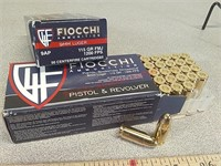 100 rounds Fiocchi 9 mm ammo ammunition