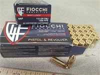 100 rounds Fiocchi 9 mm ammo ammunition