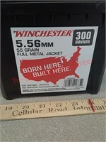 300 rounds Winchester 5.56 FMJ ammo ammunition in