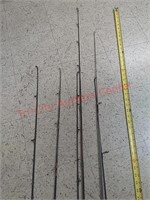 6 fishing poles, browning, Shakespeare,