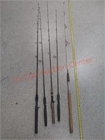 5 fishing pole rods