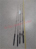 4 light action fishing poles, Shakespeare,