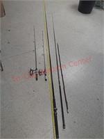 4 pan fish fishing poles