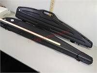 2 padded hard rifle shotgun cases