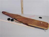 Soft padded rifle shotgun case and two gun locks