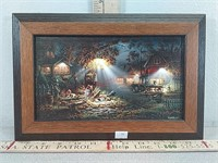 Terry redlin picture artwork, approx 12 1/4 x 8