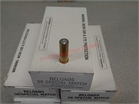 250 rds 38 special wadcutter reload ammo