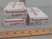 150 rds 45 auto Winchester ammo ammunition