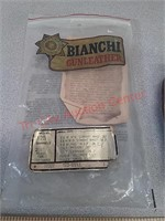 Bianchi cross draw 125 leather holster