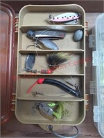 Fishing tackle, lures, weights and plastic