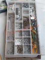 Fishing tackle, lures, weights in plastic