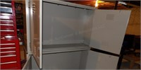 (1) 2 door lg wall mount steel cabinets 48x30x12