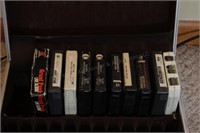 8 track player, tapes, records & music