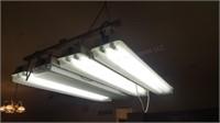4pc Double Bulb Fluorescent Lights