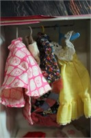 Vintage Barbie Case w/ Clothes and doll