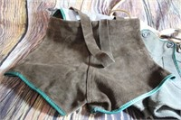 Vintage German Leiderhosen Suede Leather