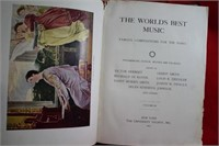 Antique 1907 Book of Music Restaurant Ad
