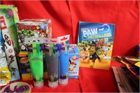 Large Lot of Toys Puzzles Stickers ect.