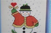 Janlynn Cross Stitch Kit Snow Man NEW
